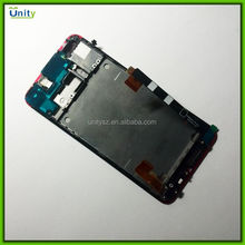 Mobile phone spare parts for HTC One M7 LCD touch screen display with frame