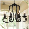 Home decorative classic black wrought iron chandelier,candle chandelier pendant light