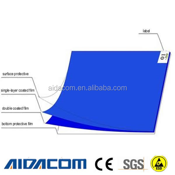 18x36inch LDPE disposable mat ANTI-UV sticky mat