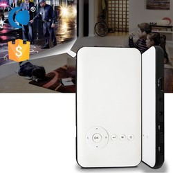 Touch Mini Android 4.4 mobile phone with built in projector