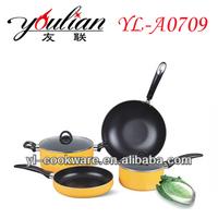 6PCS Aluminum Non-stick Cookware Set fry pan/sauce pan/dutch oven