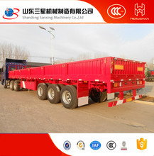 competitive price 3 axles (2 axles optional) side wall semi trailer / truck semitrailer for cargo transportation