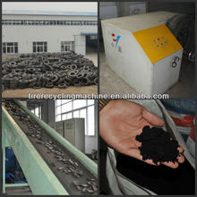 Renewable scrap tire processing equipment for rubber crumb