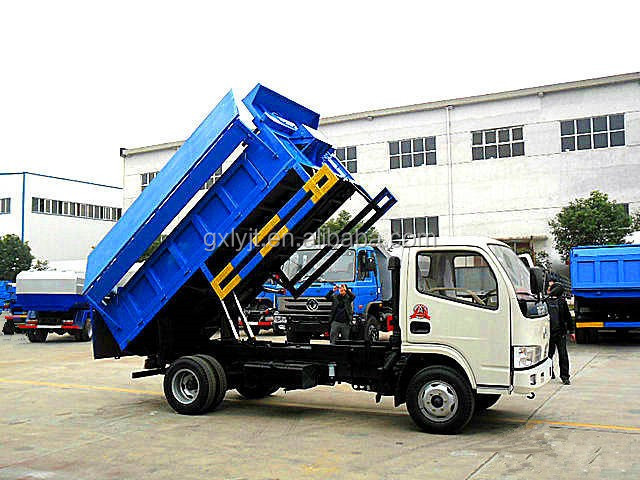 DongFeng small capacity Garbage dump Truck tipper garbage truck