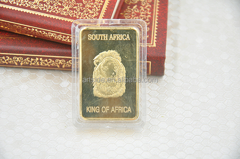 South Africa Krugerran Bullion Fine Gold Plated Replica Coin Souvenir Coin wholesale