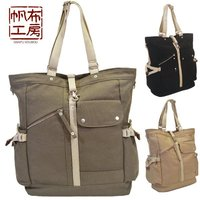 Fashionable and stylish design cotton canvas gym bags tote
