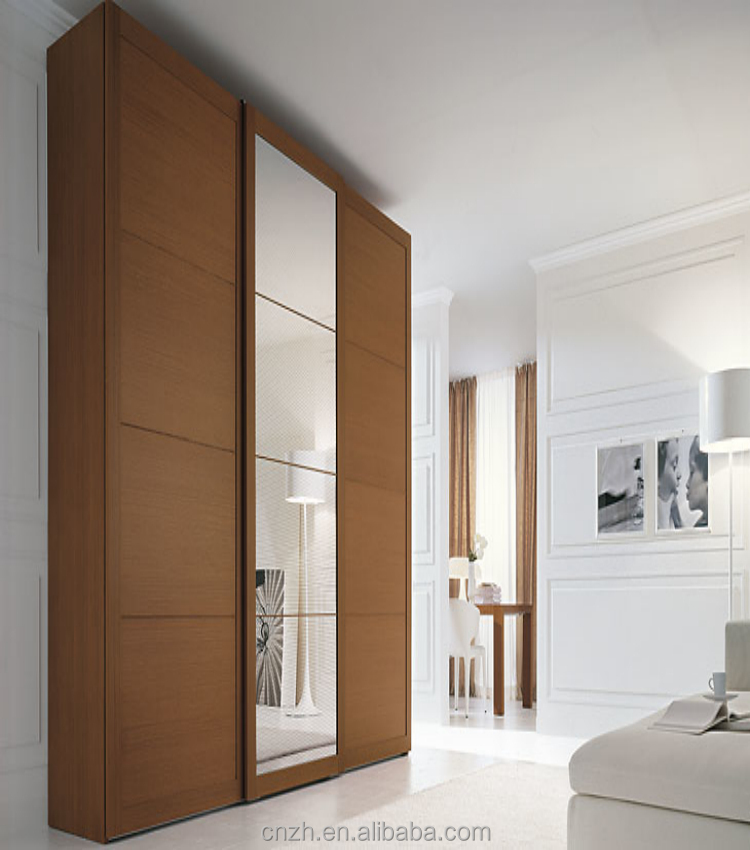 Bedroom closet wood wardrobe plywood cabinets wall almirah for Bedroom cabinet designs india