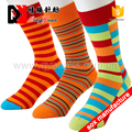Fashion happy custom design men's mid-calf happy dress socks