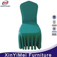 Hot sale flat front polyester cheap chair covers for wedding