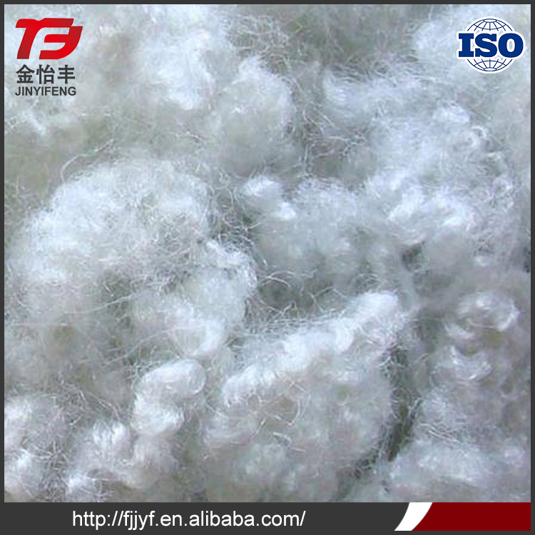 Polyester stuffing recycled bright white fiber with great price