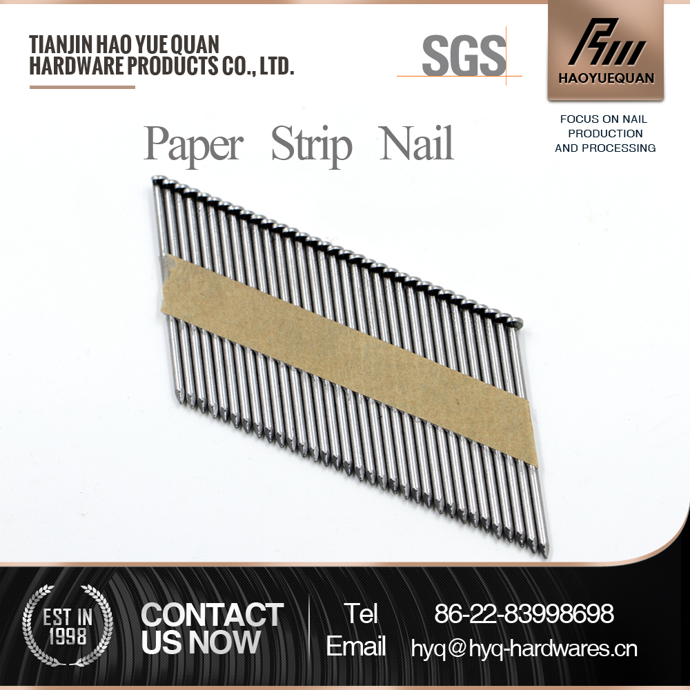 flat head paper strip nails plastic cap ring shank roofing nail metal fasteners