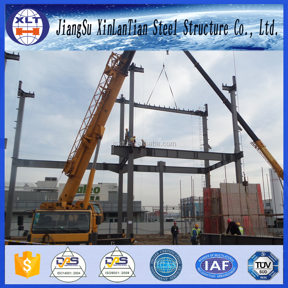 Light steel structure warehouse pre engineered metal building construction contractor