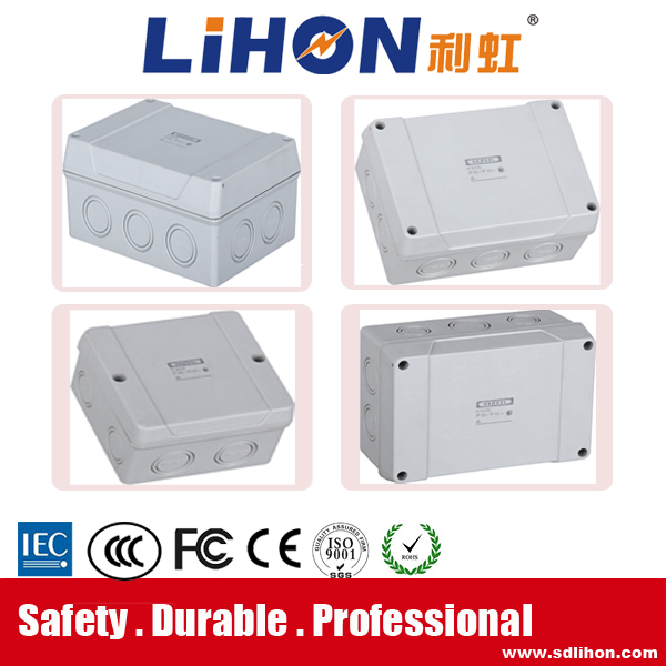 CE/ROHS certification white color ABS plastic power junction box