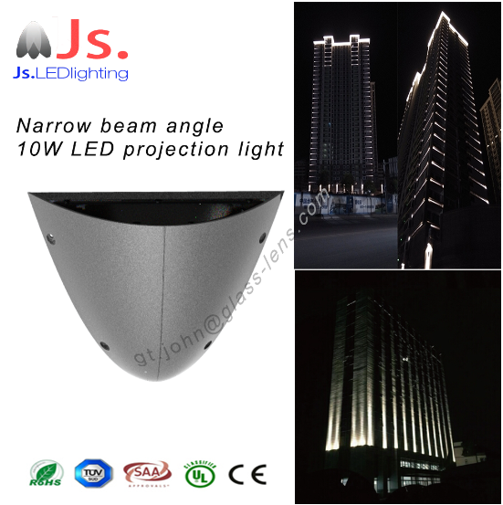 Best price Aluminum waterproof narrow beam angle LED projection light for outdoor wall building illumination