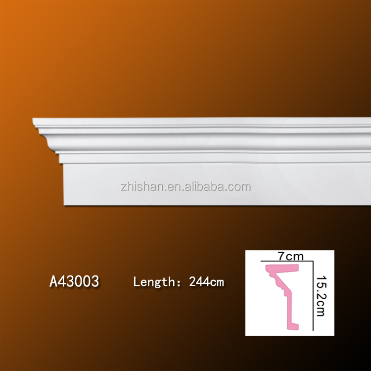 Polyurethane PU Decorative Waterproof Baseboard from Guangdong