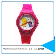 Classic silicon watch girls custom printed logo student quartz Wristwatch silicone bands watch