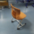 Flexible metal sled base plastic school student chairs for all grades school college student with low price