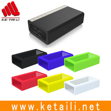 Custom design soft colorful durable silicone rubber sound blaster speaker case cover sleeve made in China