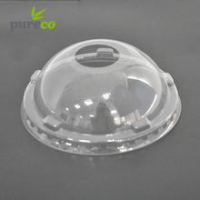 32 oz plastic PET disposable cold cup dome lid