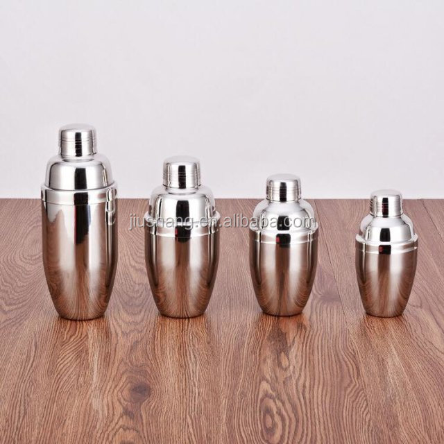 American Style Professional Boston stainless steel cocktail shaker bar set