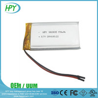 302035 170mAh 3.7V small rechargeable lipo lithium polymer battery for smart bracelet