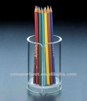 clear round acrylic pen holder