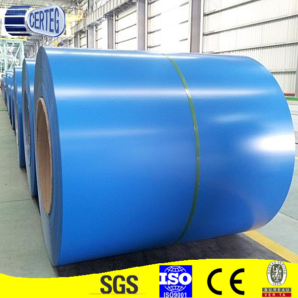 Mild Steel PPGI RAL5020 Color Coated steel coil in 1000mm width