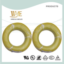 100M/roll Yellow/Green 0.75mm Fiberglass Braided silicone wire and cable price