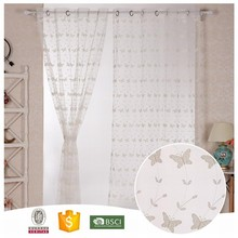 High Quality Famous Brand Abstract lace curtain white