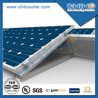 Solar panel kits for flat roof ballast