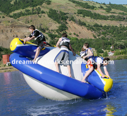 Quality assurance inflatable disco boat water toy, commercial grade inflatable disco boat for sale