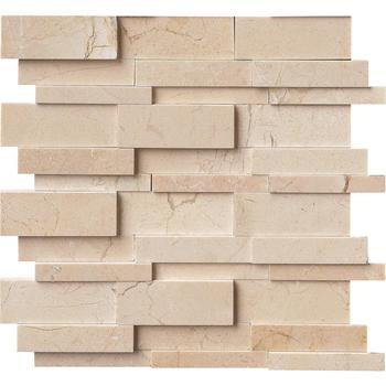Decorstone24 Cream Marfil Marble 3D Mosaic Wall Panel For Fireplace