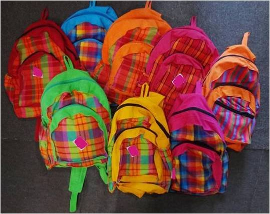 Handloom Back Pack Bag with Pockets