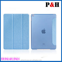 2015 new product, For ipad 6 leather case, for Ipad air 2 leather case
