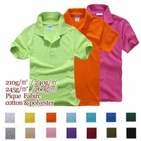 245gsm cotton polyester blank polo bulk wholesale polo t shirt plain dyed polo shirt