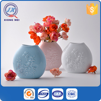 Modern shaped popular printed various colors ceramic flower pot