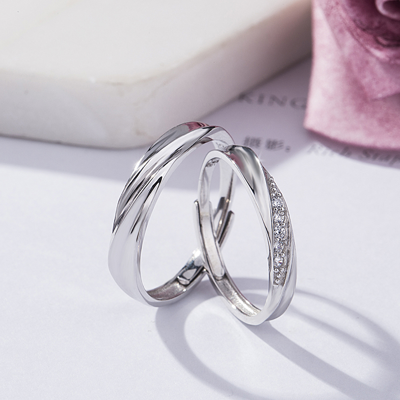 925 sterling silver couple ring jewelry sample wedding ring designs cubic zirconia ring