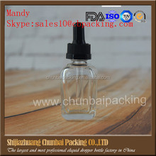 Similar Products wholesale China supplier square 30ml glass bottles dropper ejuice glass dropper bottle