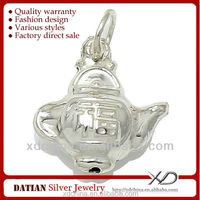 XD HB023 925 sterling silver FU tea pot bells pure silver bell