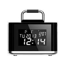 LCD display wireless bluetooth speaker with alarm clock function