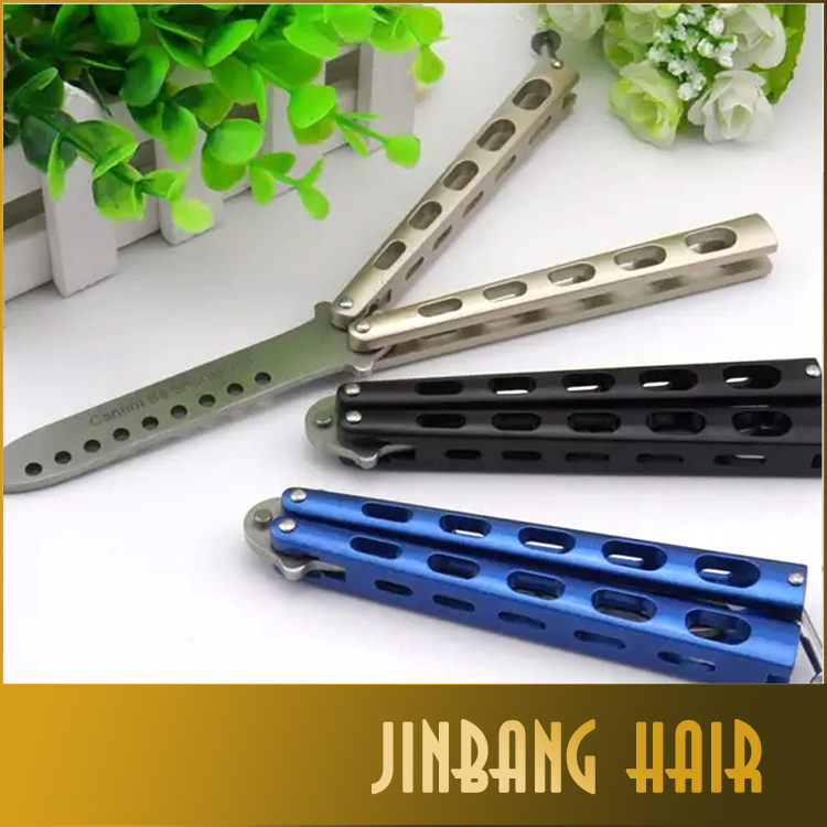 stainless steel practice metal trainer dull butterfly knife cool sport tool folding butterfly training knife