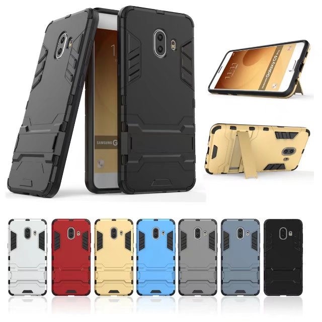 Hybrid Rubber Rugged Shockproof Kickstand Phone Case For Samsung Galaxy <strong>C10</strong>
