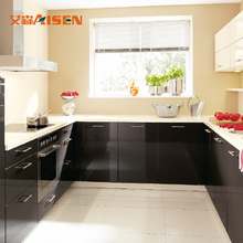 Gold Supplier China Modern Glass Door Lacquer Kitchen Cabinet With Wall Cupboard