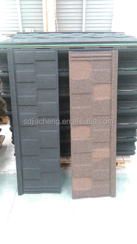 Nosen,Plain Roof Tile Type and aluminum-zinc steel Material stone coated metal roofing sheet