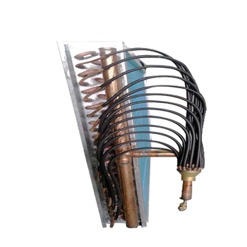 Freezing tube fin condenser