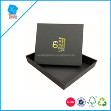 Black color square shape paper jewelry box made by cardboard