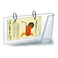 clear acrylic calendar stand with metal ring