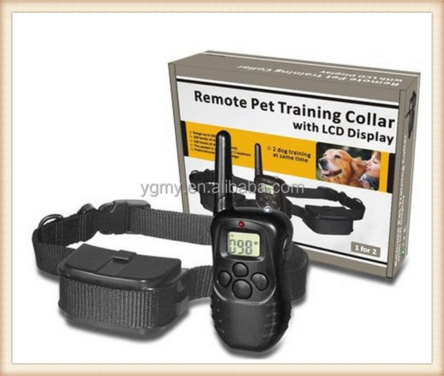 Remote Dog Training Collar Rechargeable And Waterproof Vibration Shock Electronic 300M 100Level Dog Electric Collars