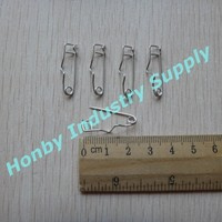 TNT or DHL Free Shipping 50000pcs/Lot 25mm Name Tag Holders Crimp Pins
