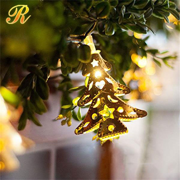 Christmas tree shape led string light for holiday decoration